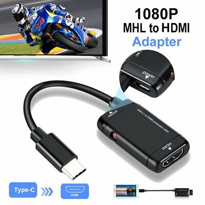 Hot USB Type C to Female HDMI HD TV Cable Adapter For Samsung Note 9 S8 S9 S10