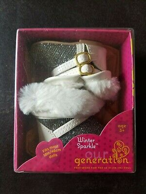 """Our Generation Doll 18"""" Winter Sparkle Boots Shoes Accessories OG AG"""
