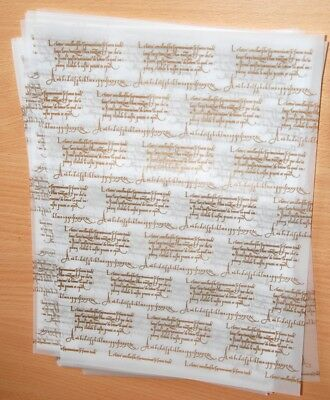 WHITE VELLUM PARCHMENT with GOLD SCRIPT - 10 PACK