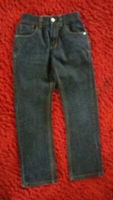 Boys Slim Straight Leg Dark Denim Jeans (Worn/Washed Once) - Age 10 Yrs - Next