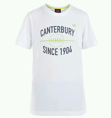 CANTERBURY Kids Rugby T-shirt Age 8 Years BNWT