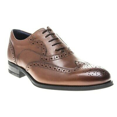 New Mens Ted Baker Tan Mittal Leather Shoes Brogue Lace Up