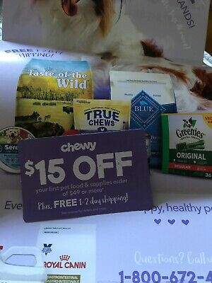 CHEWY—$15 OFF FIRST Order of $49–chewy.com Will Send Fast Exp. 3/31/20