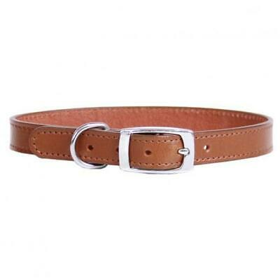 Dog Collar Leather Deluxe Sewn Plain