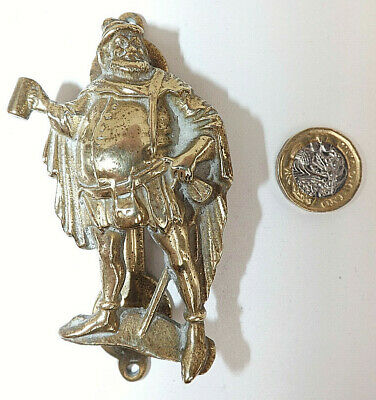Victorian/Edwardian Brass Sir John Falstaff  Door Knocker With Rd Registration