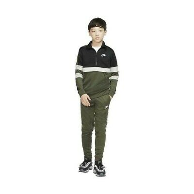 Boys Nike Air Older Kids Half Zip Tracksuit Black//Green AQ9423 325 XS/_S