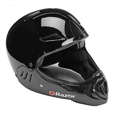 Razor Full Face Child Safety Outdoor Sports Helmet, Gloss Black (Open Box)