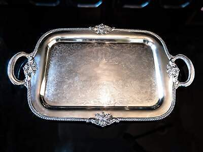 Antique Silver Plate Serving Tray Georgian By Community Plate