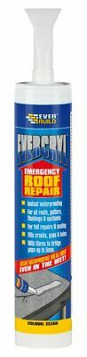 PACK OF 4 Everbuild Clear Evercryl Emergency Roof Repair Compound Rain Sealant