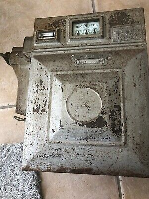 Rare Antique COIN OPERATED Natural GAS Meter American Meter Company
