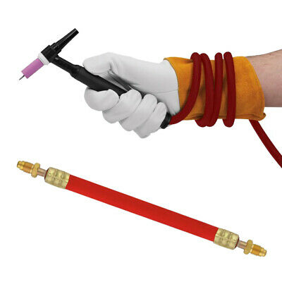 Equipment Power Cable TIG Torch Ultra-flexible Wire Connected Gold+Red 25 Feet