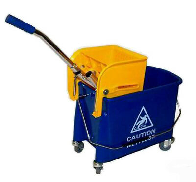 Cleaning Bucket Carts with Press, Rollable Approx. 19 L 2 Kammersystem