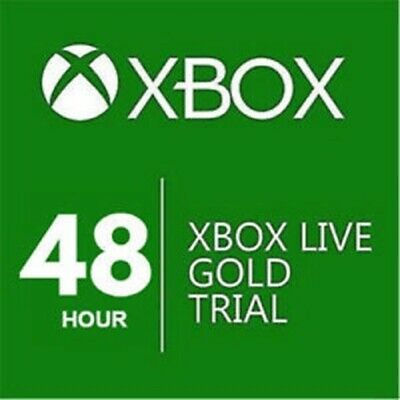XBOX LIVE GOLD 48 HOURS (2 DAYS)  TRIAL - Shipping by email
