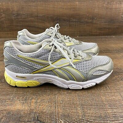 REEBOK DMX RIDE RB 912 Athletic Running Sneakers Gray Yellow