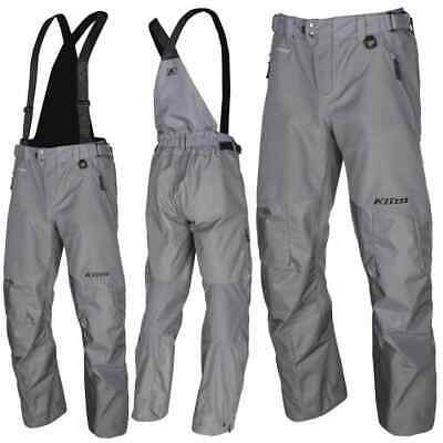Klim Powerhawk Non Insulated Snowmobile Mens Pants/Bibs - Gray - 2X-Large