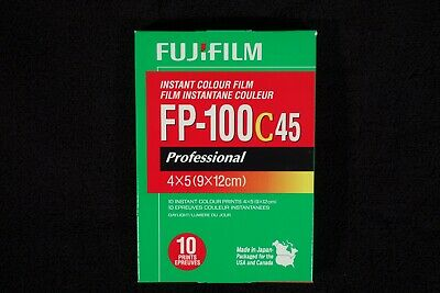 2 packs of Fujifilm FP-100c45 4x5 Color Film - July 2014 - Refrigerated