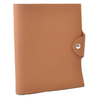HERMES Leather Ulysse PM Day Planner Cover Brown Auth 11638