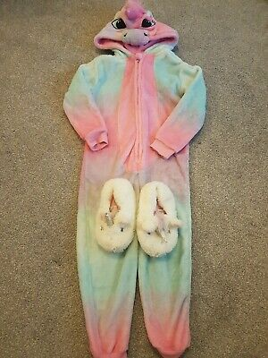 Girls Unicorn all in one And Slippers