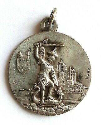Rare Old Religious Medal St. Michael The Archangel