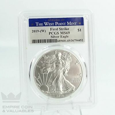 2019-W First Strike PCGS MS69 Silver Eagle $1 West Point