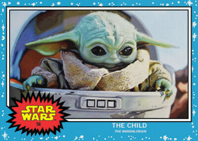 TOPPS STAR WARS LIVING SET- THE CHILD BABY YODA SP Mandalorian #58 Limited /9663