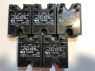 Lot of 5 Crydom D2425D Solid State Relay (25 Amp)