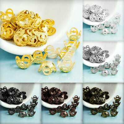 20g DIY Crimp End Spacer Perles Bouchons Charm Bijoux Findings Caps 8x8x5mm