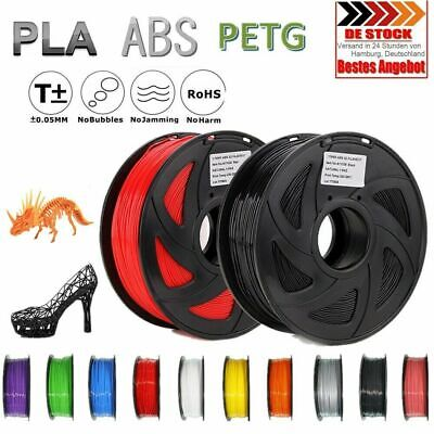 3D Drucker Filament 1kg PLA/ ABS/ PETG/TPU 1,75mm/3mm Spule Rolle Made by 2n