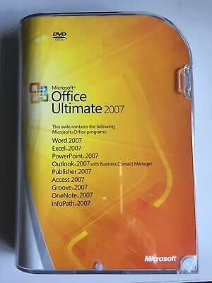 GENUINE MS Microsoft Office 2007 Ultimate Full Version RETAIL BOX NEW SEALED