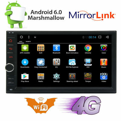 """Android 6.0 WIFI 7"""" Double 2DIN Car Radio Stereo No-DVD Player GPS NAV BT+CAMERA"""