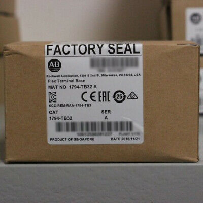 Allen-Bradley Flex Terminal Base Unit 1794-TB32 for 32 Point Modules From US