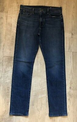 Vineyard Vines Jeans  Mens Blue Denim Stretch Cotton Straight Cut 33 X 34