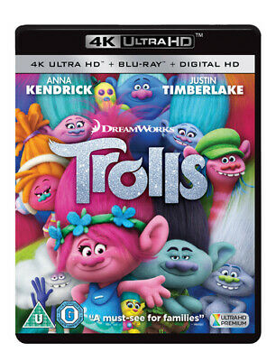 Trolls Blu-ray (2017) Mike Mitchell cert U 2 discs Expertly Refurbished Product