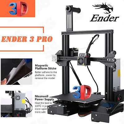 Newest Creality Ender 3 Pro 3D Printer 220X220X250mm Mean Well Power DC 24V SALE