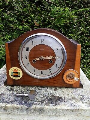 Smith Enfield Vintage Mantle Clock 1950's needs repair