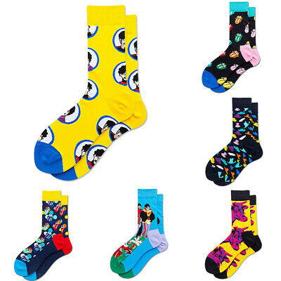 Mens Warm  Cotton Gifts Casual Funny Novelty Fancy Crazy For Dress Socks