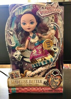"""Ever After High Way Too Wonderland Madeline Hatter 17"""" Doll (discontinued) NEW"""