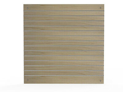 "Slatwall Panel Oak 48X48"" (4x4') Aluminum Channels Wall Display Merchandising"