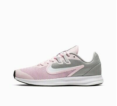 Nike Downshifter 9 Gs Girls / Women's Trainers Pink Foam / White Ar4135 Size Uk