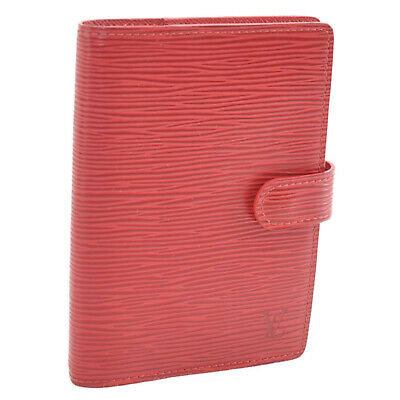 LOUIS VUITTON Epi Agenda PM Day Planner Cover Red R20057 LV Auth 11693