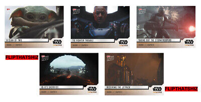 Star Wars: The Mandalorian TOPPS NOW 5-Card Pack S1 - Chapter 8 #36-40 Baby Yoda