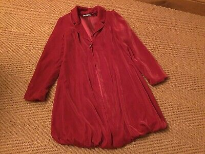 Marks&spencer Autograph Girls Velvet Coat Age 11-12 Years