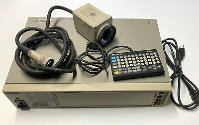 Sony DXC-750 Camera Control Unit With Camera Title Generator Controller