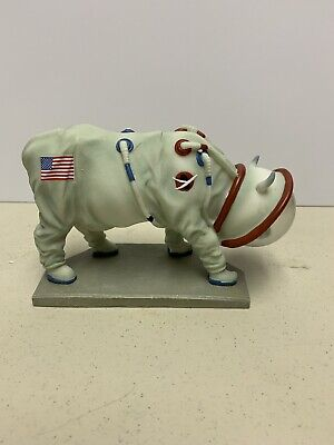 Cow Parade Cow Figurine # 9120 MOOOOONWALK  NIB with tag by Westland Giftware