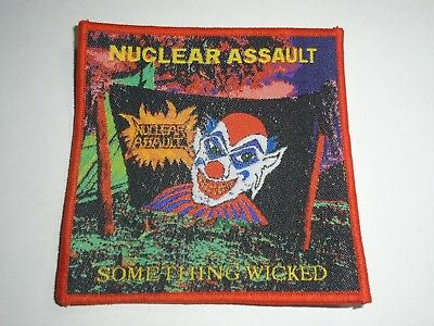 Nuclear Assault Something Wicked Woven Patch