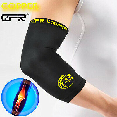 Copper Infused Elbow Support Compression Arm Brace Sleeve Muscle Pain Relief AU