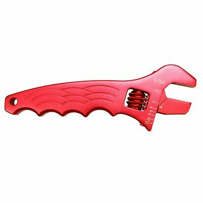 New Tool Spanner Adjustable Aluminum Wrench Hose Fitting AN 3 4 6 8 10 12 Red