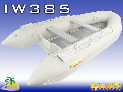 3.85m ISLAND INFLATABLE BOAT ✱ WOOD FLOOR ✱ Durable Thermo Welded Seam 3YRW