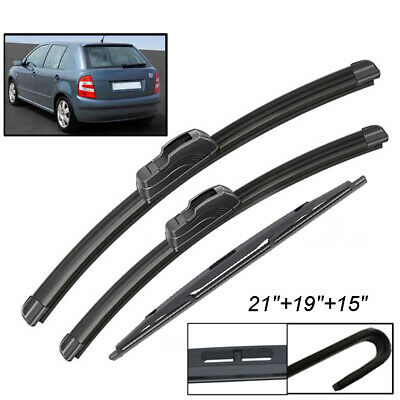Skoda Fabia 99on pair of Flat wiper blades 21//19 drivers passangers front