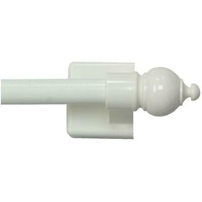 "16"" - 28"" White Magnetic Curtain Rod Set"